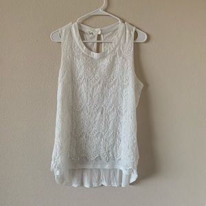 !!NEW!! LIKE NEW! maurices Lace High Neck Tank